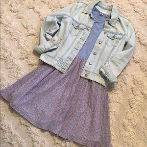 GAP Kids Mixed Media Sleeveless Dress